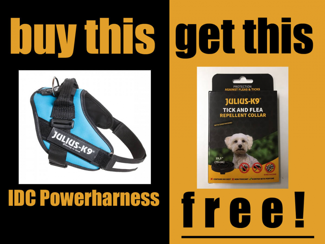 Free Tick & Flea Repellent Collar With Every IDC® Powerharness Purchase