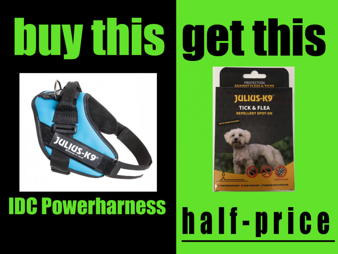 Half Price Tick & Flea Spot On Treatment With Every IDC® Powerharness Purchase