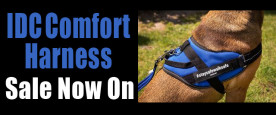 promo banner for IDC comfort harness sale