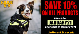 10% Discount Code on Official Julius K9 Dog Gear