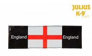 england flag dog badge
