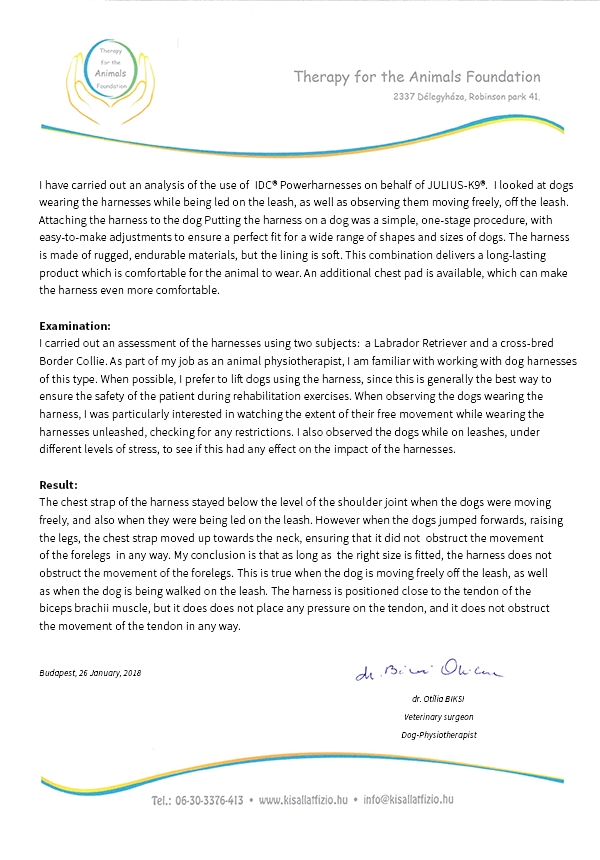 letter of recommendation for the IDC powerharness