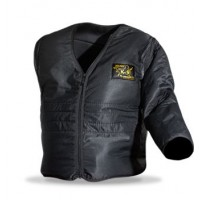 Protective-jacket with changeable sleeves, Ligth padding, black size 52