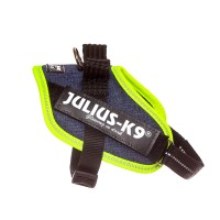 IDC Powerharness - Size Mini Mini - Denim (Neon Trim)