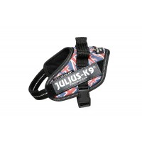 Union Jack Dog Harness - Extra Extra Small Dog (mini-mini)