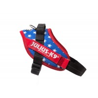 American Flag Dog Harness - Extra Extra Small Dog (mini-mini)