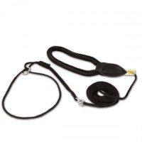 Show leash 2 m black with super-grip handle