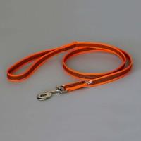 Color & Gray K9 Super Grip Dog Leash - Orange - 1.2 m  (With Handle)