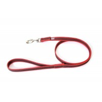 K9 Super Grip Narrow Dog Leash - Red - 1 m - With Handle