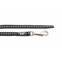 IDC Synthetic Tubular Webbing Narrow Dog Lead - 2 m - Black - No Handle