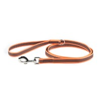 Orange K9 Super Grip Leash 1.8m (wide 20mm) with Handle
