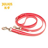 IDC Lumino Fluorescent Dog Lead (Adjustable) - Red