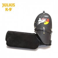 Black K9 Sport Hard Leather Sleeve (Left Arm)