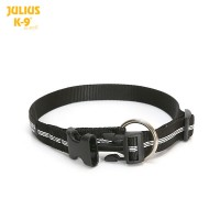 IDC® tubular webbing collar, BLACK