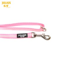 IDC® Tubular webbing Leash PINK with handle and O ring