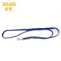 Color & Gray - K9 Super-grip leash – Blue-Gray – Double Adjustable