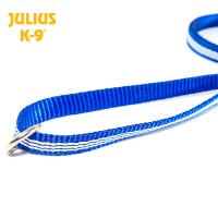 IDC® Tubular webbing Leash BLUE with handle and O ring