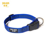 Large (25mm) Color & Gray® Dog Collar - Blue