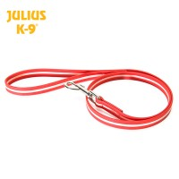 IDC®-Lumino leash - Red/Phosphorescent - With Handle