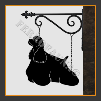 American Cocker Spaniel Hanging House Sign