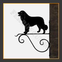 Bernese Mountain Dog Hanging Basket Bracket