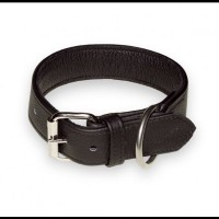 ECO - Leather Dog Collar 4 cm x 65 cm, Hand-Sewn