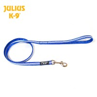 IDC® Tubular webbing Leash BLUE with handle - Ø 14 mm