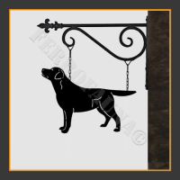 Labrador Retriever Hanging House Sign