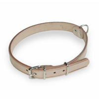natural riveted leather collar
