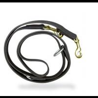Double Adjustable Leather Leash
