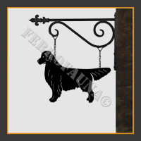 Golden Retriever Hanging House Sign