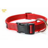 Large (25mm) Color & Gray® Dog Collar - Red