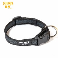 Large (25mm) Color & Gray® Dog Collar - Black