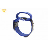 Dog Safety Collar with Handle - Blue - Large (50mm)