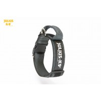 Dog Safety Collar with Handle - Black - Large (50mm)