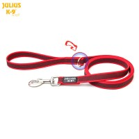 Red K9 Super Grip Wide (20mm) 1.2m & O Ring With Handle