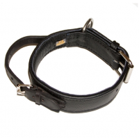 Recycled Eco Leather Dog Collar with Handle