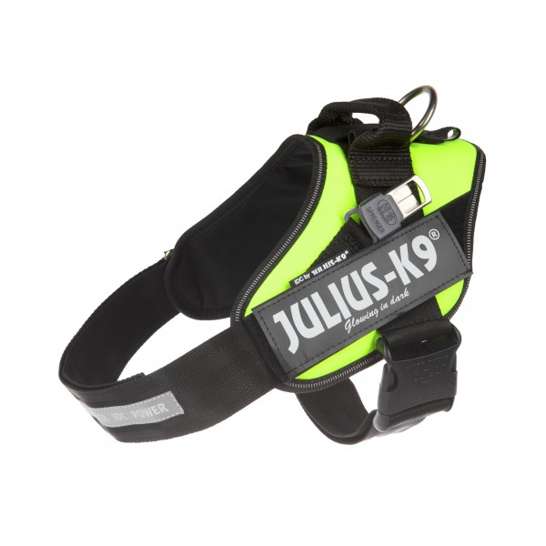 Neon Green IDC Guide Dog Harness (Size 1) - Julius K9 UK