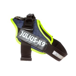 IDC Powerharness - Size 1 - Denim (Neon Trim)
