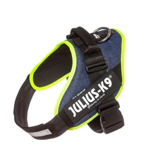 IDC Powerharness - Size 2 - Denim (Neon Trim)