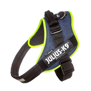 IDC Powerharness - Size 4 - Denim (Neon Trim)