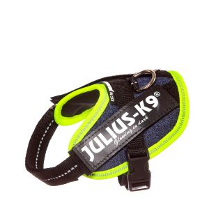 IDC Powerharness - Size Baby 2 - Denim (Neon Trim)