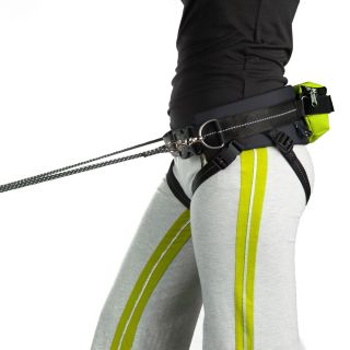 jogging belt worn by jogger