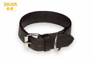 recycled leather dog collar