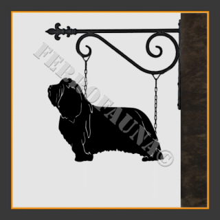 Bearded Collie Hanging House Sign