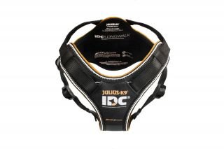 black IDC Longwalk Dog Harness
