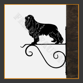 Cavalier King Charles Dog Hanging Basket Bracket
