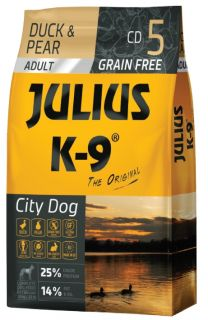 JULIUS-K9® City Dog Food for Adult Dogs - Duck & Pear