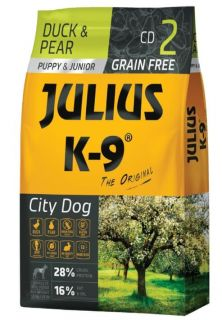 JULIUS-K9® City Dog Food for Puppy/Junior - Duck and Pear