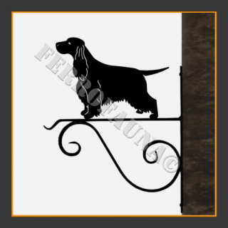English Cocker Spaniel Hanging Basket Bracket